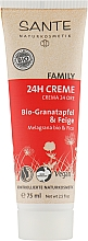 "Духи, Парфюмерия, косметика Биокрем для лица 24 ч. ""Защита и уход"" с гранатом и инжиром - Sante Family Organic Pomegranate & Fig 24h Cream"