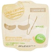 Духи, Парфюмерия, косметика Гелевые патчи для глаз с золотом - Lassie'el Gold Crystal