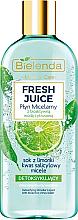 "Детоксицирующая мицеллярная жидкость ""Лайм"" - Bielenda Fresh Juice Detoxifying Face Micellar Water Lime — фото N1"