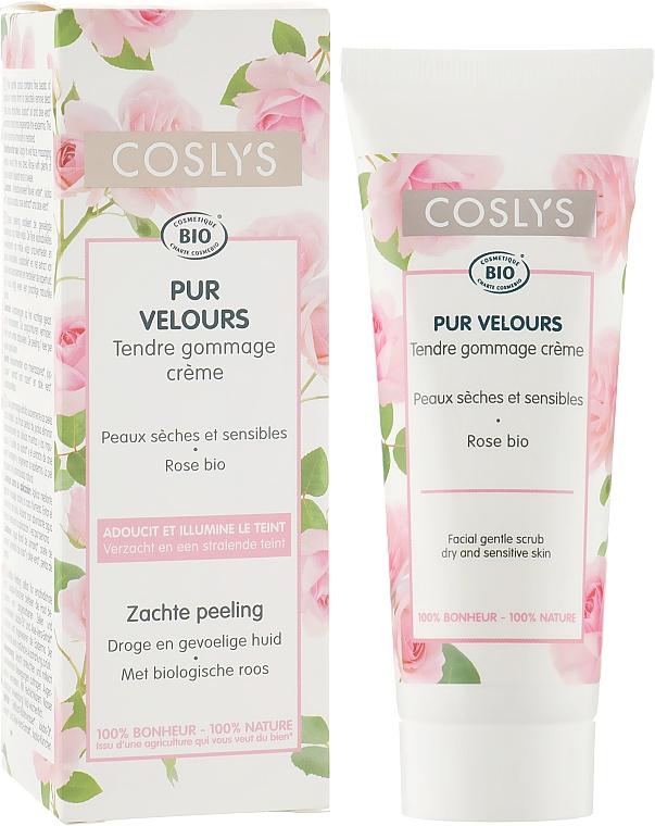 Нежный скраб для лица с экстрактом розы для сухой и чувствительной кожи - Coslys Facial Care Facial Gentle Scrub With Organic Rose Floral Water