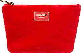 Духи, Парфюмерия, косметика Косметичка на молнии красная, 19х12 - Chanel Makeup