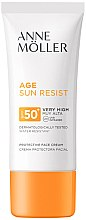 Духи, Парфюмерия, косметика Солнцезащитный крем для лица - Anne Moller Age Sun Resist Protective Face Cream SPF50+