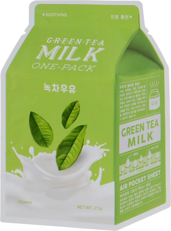"Тканевая маска ""Зеленый чай"" - A'pieu Green Tea Milk One-Pack"