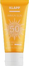 Духи, Парфюмерия, косметика Солнцезащитный крем для лица SPF50 - Klapp Immun Sun Face Protection Cream SPF50