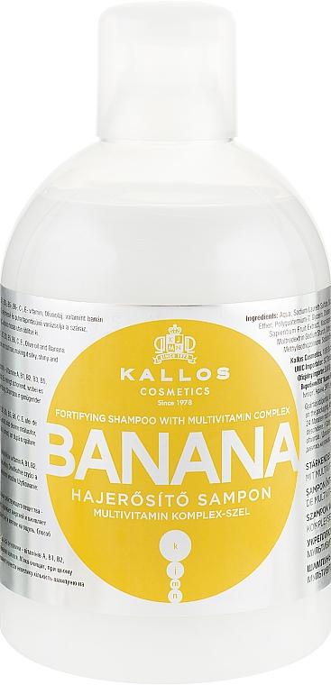 Шампунь для укрепления волос с мультивитаминным комплексом - Kallos Cosmetics Banana Shampoo