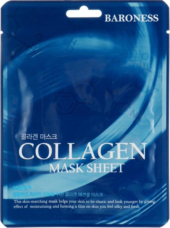 Тканевая маска с коллагеном - Beauadd Baroness Mask Sheet Collagen