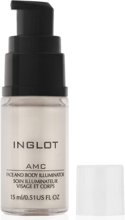 Мерцающий крем для лица и тела - Inglot AMC Face And Body Illuminator