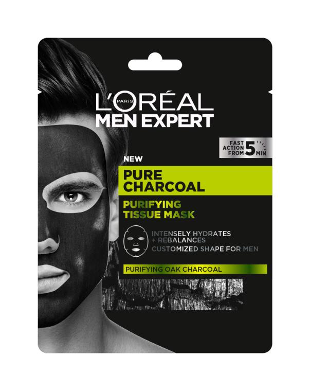 Тканевая маска для кожи лица - L'Oreal Paris Men Expert Pure Charcoal