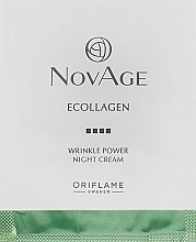 Духи, Парфюмерия, косметика Ночной крем против морщин - Oriflame NovAge Ecollagen Wrinkle Power Night Cream (пробник)