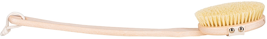 Щетка для сухого массажа и мытья тела с твердым волокном и съемной ручкой - Miamed