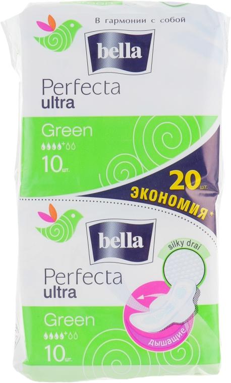 Прокладки Perfecta Green Drai Ultra, 2х10шт - Bella