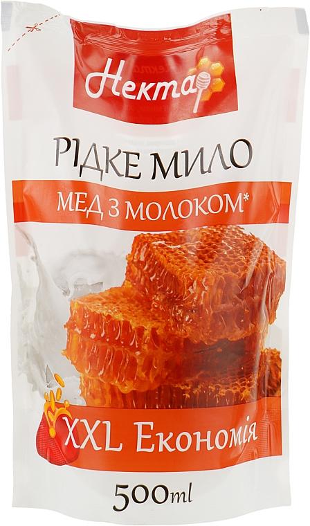 """Жидкое мыло """"Мед с молоком"""" - Aqua Cosmetics Нектар (дой-пак)"""
