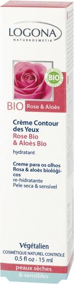 Увлажняющий био-крем для кожи вокруг глаз - Logona Facial Care Eye Cream Organic Rose & Aloe