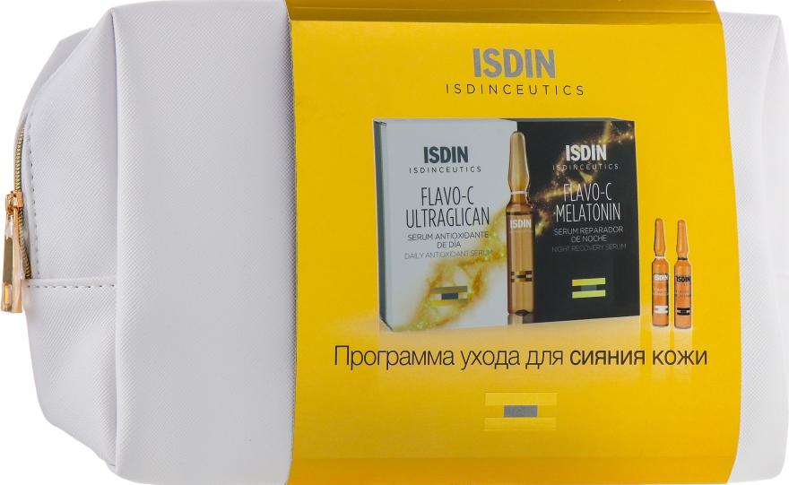 Набор - Isdin Isdinceutics Flavo-C Pack 10 Ultraglican 10 Melatonin Ampoules(ser/10x2ml+ser/10x2ml + punch)