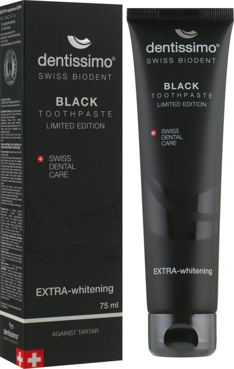 """Зубная паста """"Натуральное отбеливание"""" - Dentissimo Extra Whitening Black"""