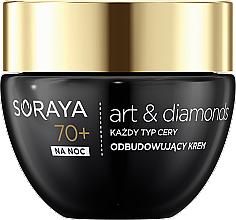 Духи, Парфюмерия, косметика Ночной крем для лица - Soraya Art&Diamonds Recovering Night Cream 70+