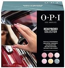 Духи, Парфюмерия, косметика Набор - O.P.I Gel Color Hollywood Spring 2021 Add-On Kit #1 (gel/polish/6x15ml + removal/wrap/1pcs + palette/1pcs)