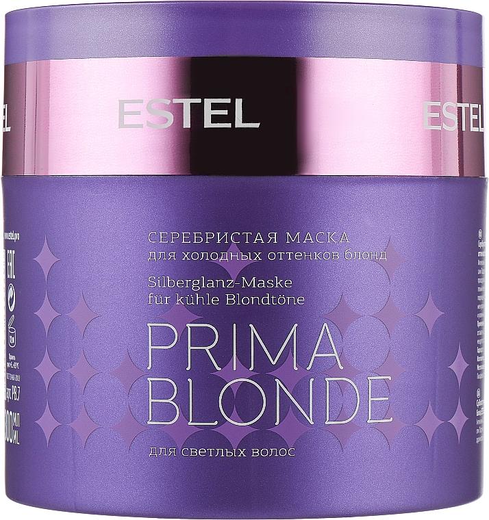 Серебристая маска для холодных оттенков блонд - Estel Professional Prima Blonde Mask