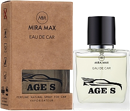 Духи, Парфюмерия, косметика Ароматизатор для авто - Mira Max Eau De Car Age S Perfume Natural Spray For Car Vaporisateur