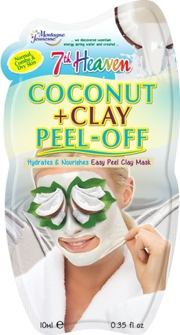 "Маска-пленка для лица ""Кокос и глина"" - 7th Heaven Coconut & Clay Peel Off Mask"