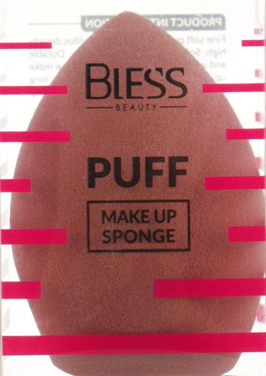 Спонж скошенный, коричневый - Bless Beauty PUFF Make Up Sponge