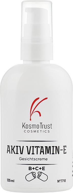 Профессиональный крем с витаминами В+С+Е регулирующий - KosmoTrust Akiv Vitamin-E Gesichtscreme