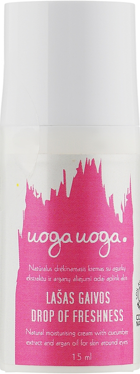 Увлажняющий крем для кожи вокруг глаз с огуречным экстрактом и аргановым маслом - Uoga Uoga Natural Moisturising Eyes Cream