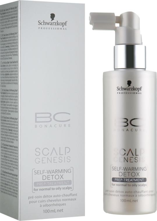 Согревающая маска для нормальной и жирной кожи головы - Schwarzkopf Professional BC Scalp Genesis Self-Warming Detox Prep-Treatment