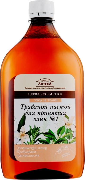 """Травяной настой для принятия ванн №1 """"Эротический танец"""" - Зеленая Аптека"""