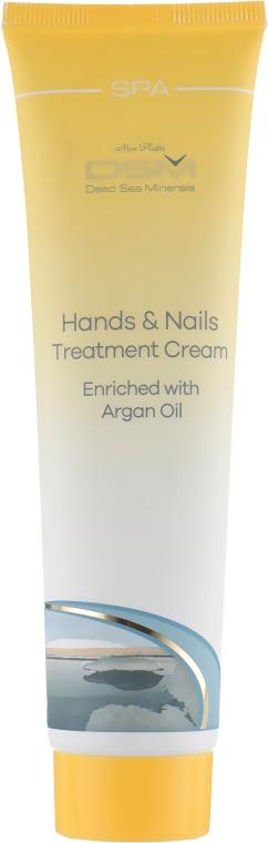 Регенерирующий крем для рук и ногтей, обогащенный аргановым маслом - Mon Platin DSM Hand & Nails Treatment Cream