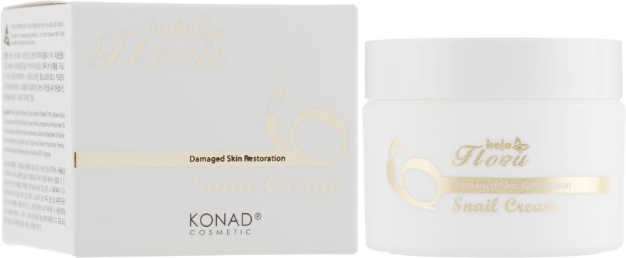 Крем для лица со слизью улитки - Konad Iloje Flobu Revital Snail Cream