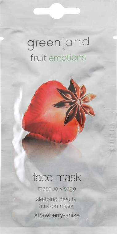 "Нічна маска для обличчя ""Полуниця - аніс"" - Greenland Fruit Emotions Strawberry-Anise Face Mask — фото N1"