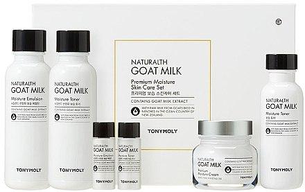 Набор - Tony Moly Naturalth Goat Milk Set (toner/150 + toner/110 + toner/20ml + emulsion/150 + emulsion/20ml + f/cr/60ml) — фото N1