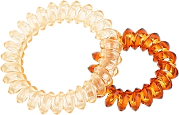 Духи, Парфюмерия, косметика Резинки для волос, 414562, прозрачно-персиковая + прозрачно-коричневая - Glamour