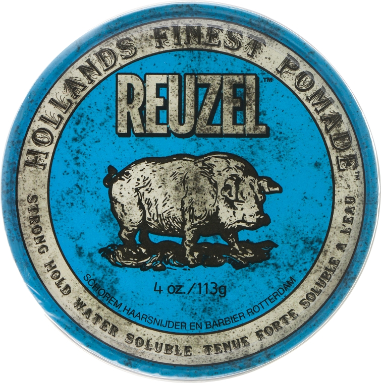 Помада для волос - Reuzel Blue Strong Hold Water Soluble High Sheen Pomade