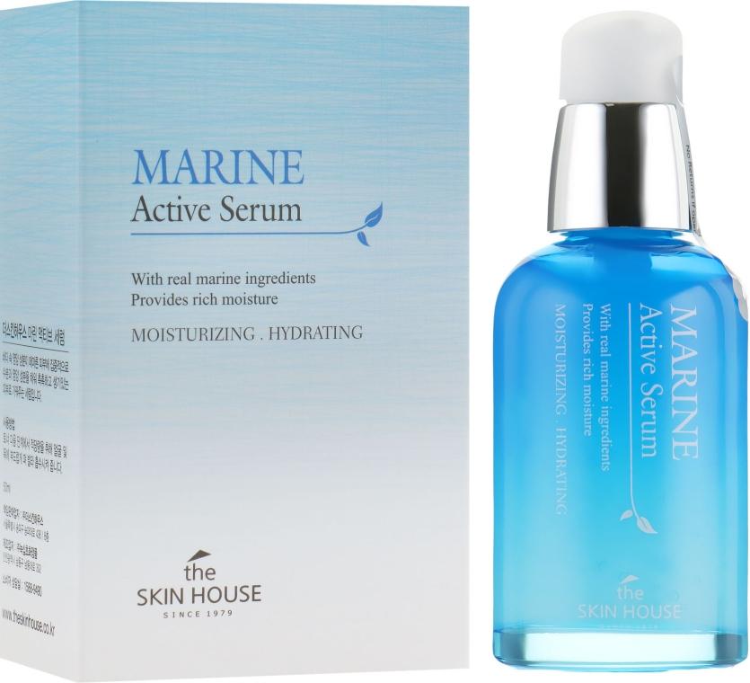 Увлажняющая сыворотка для лица с керамидами - The Skin House Marine Active Serum