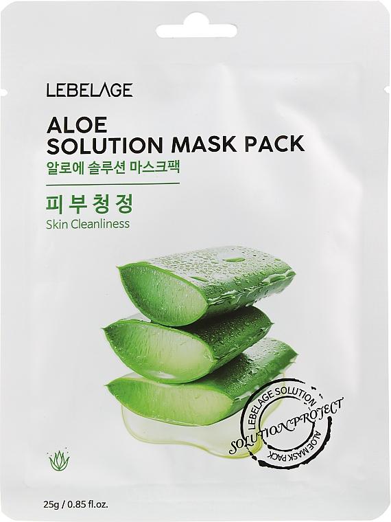 """Маска для лица тканевая """"Алоэ"""" - Lebelage Aloe Solution Mask"""