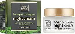 Духи, Парфюмерия, косметика Ночной крем с экстрактом конопли, коллагеном и минералами Мертвого моря - Dead Sea Collection Hemp & Collagen Night Cream