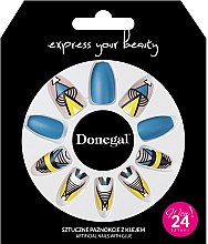 Духи, Парфюмерия, косметика Набор искусственных ногтей с клеем, 3051 - Donegal Express Your Beauty