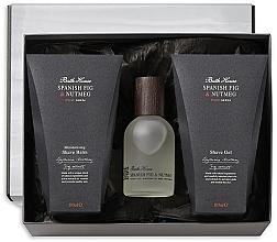 Парфумерія, косметика Bath House Spanish Fig and Nutmeg - Набір (edc/100ml + shave/gel/100ml + shave/balm/100ml)