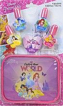 Духи, Парфюмерия, косметика Набор лаков для ногтей с футляром - Markwins Disney Princess