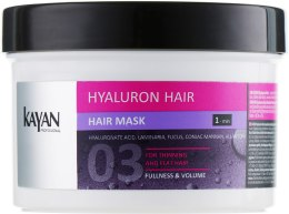 Духи, Парфюмерия, косметика Маска для тонких и лишенных объема волос - Kayan Professional Hyaluron Hair Hair Mask