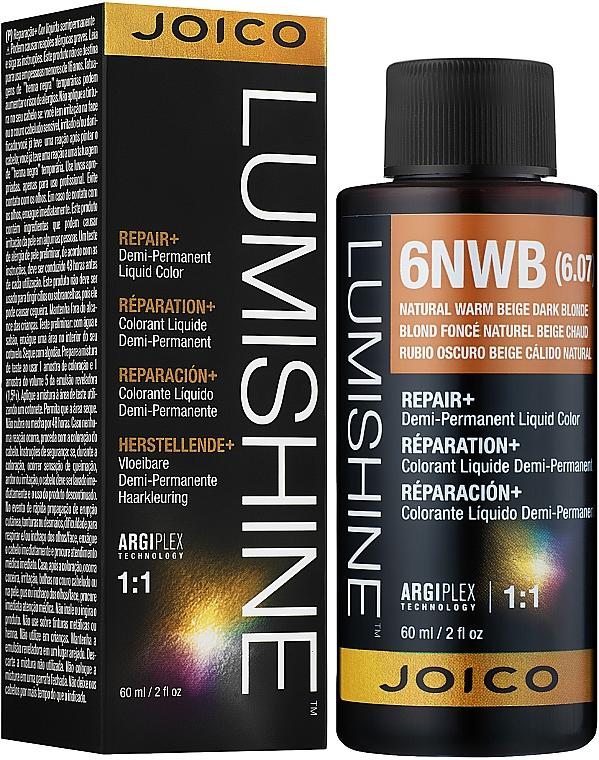 Полуперманентная жидкая краска для тонирования волос - Joico LumiShine Demi-Permanent Liquid