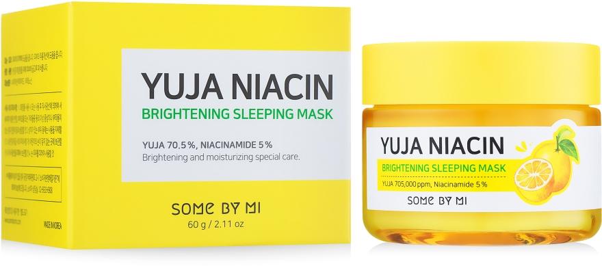 Ночная выравнивающая тон маска для лица - Some By Mi Yuja Niacin Brightening Sleeping
