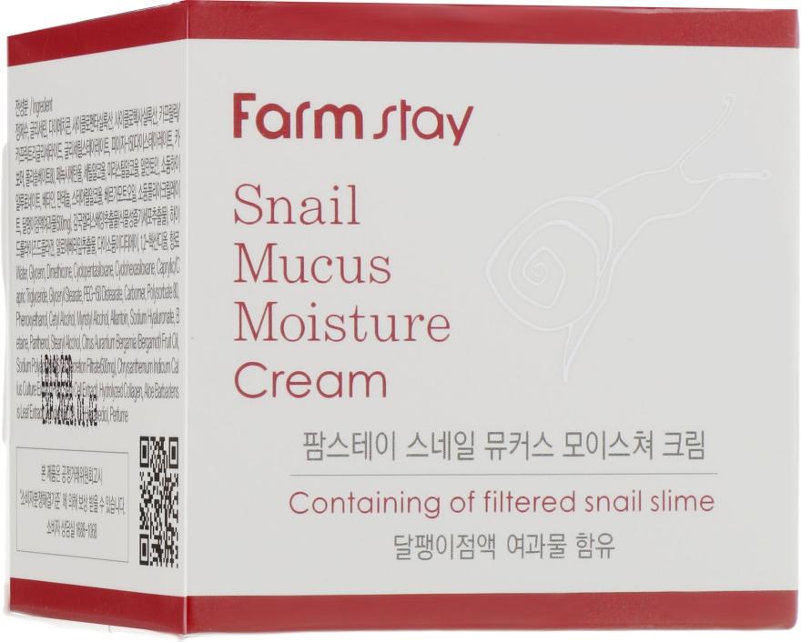 Увлажняющий крем с экстрактом улитки - FarmStay Snail Mucus Moisture Cream
