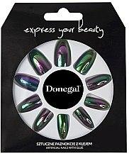 Духи, Парфюмерия, косметика Набор искусственных ногтей, черный - Donegal Express Your Beauty