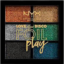 Духи, Парфюмерия, косметика Палетка пигментов для макияжа - NYX Professional Makeup Love Lust Disco Foil Play Pigment Palette