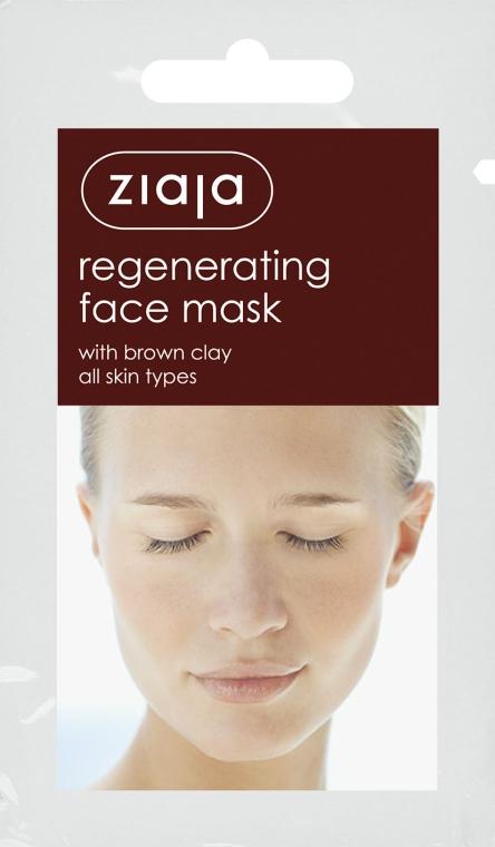 """Маска для лица """"Регенерирующая"""" с коричневой глиной - Ziaja Face Mask"""