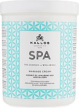 Парфумерія, косметика Крем з кокосовою олією, гіалуроновою кислотою і колагеном для масажу - Kallos Cosmetics SPA Hand&Foot Care Massage Cream