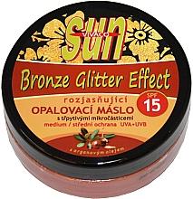 Духи, Парфюмерия, косметика Масло для загара - Vivaco Sun Argan Bronz Oil Glitter Effect SPF 15
